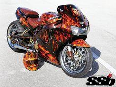 Respect the badge when this vet rolls up. Custom Street Bikes, Custom Sport Bikes, Custom Motorcycles, Cars And Motorcycles, Honda S, Suzuki Gsx, Hot Bikes, Motorcycle Gear, Purple Motorcycle