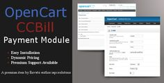 Buy CCBill Payment Module for OpenCart by plugindistrict on CodeCanyon. This will allow you to use CCBill as a payment option in your OpenCart store. To install, you just unzip the files i. Wordpress Plugins, Ecommerce, Drupal, Web Design, Success, Coding, This Or That Questions, Scripts