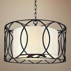 "Sausalito 25"" Wide Deep Bronze Pendant Light - #U0159   LampsPlus.com"
