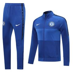 Chelsea 20/21 Bright Blue(Player edition) Men Jacket Tracksuit Slim Fi – zorrojersey Chelsea Fc, Chelsea Nike, Fc Barcelona, Manchester United, Real Madrid, Arsenal, Fc Liverpool, Tracksuit Pants, Sweater Sale