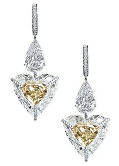 Spectacular Diamond Earrings from the Kissing Diamonds Collection: an unforgettable kiss from the Swiss jewelry house BOGH-ART.  (=)