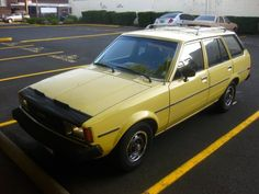 1981 Toyota Corolla Wagon. I USED TO DRIVE ONE OF THESE!! It was really good car for how ugly it was!