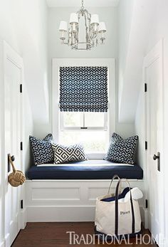 What to do with small spaces. vintagehomeca:  (via Pin by Judith Peacock on ~ Summer Cottage ~ | Pinterest)