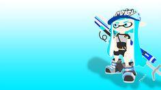 Splatoon - Inkling girl with E-liter 3K Scope by DJUMD.deviantart.com on @DeviantArt