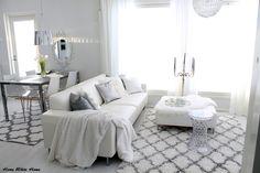White Living/Dining room - Home White Home -blog