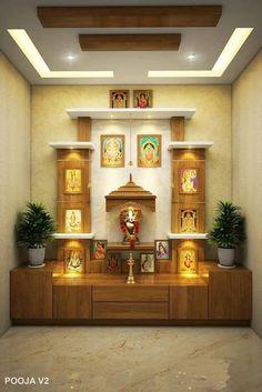Apartment Balcony Decorating, Apartment Balconies, Pooja Mandir, Pooja Room Design, Puja Room, Liquor Cabinet, Bookcase, Stairs, Shelves