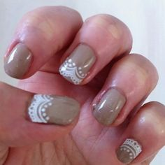 <3 D.I.M Nail - gave my nails some Peter Pan lace collars and a wash of  tiny gold glitters. <3