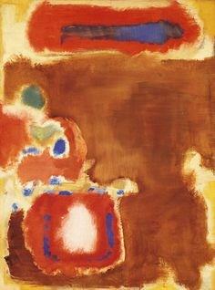 "Untitled, 1947. ""Like other New York School artists, Rothko used abstract means to express universal human emotions, earnestly striving to create an art of awe-inspiring intensity for a secular world."""