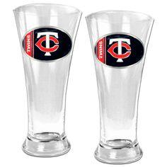 aaae406762 Minnesota Twins Pilsner Glass Set Twins Baseball