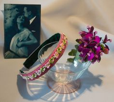Pink and green Hairband Party accessory for girl by LoveThirties
