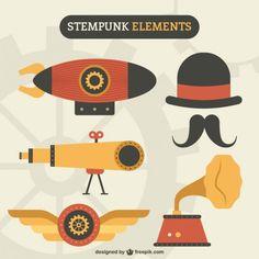 elements-in-steampunk-design.jpg (626×626)