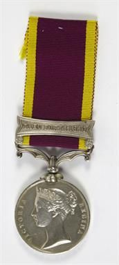 Lot 499: Second China War Medal, with Taku Forts 1860 clasp. Estimate £240 - £300. Sale date 18th June 2014 www.afbrock.co.uk