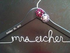 Custom Personalized Bridal Dress Hanger  by HandcraftedAffairs, $28.00