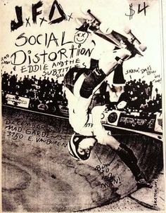 JFA, Social Distortion, Eddie and the Subtitles @ Madison Square Gardens. Music Flyer, Concert Flyer, Concert Posters, Rock And Roll, Scream, Punk Poster, Social Distortion, Emo Scene, Punk Goth