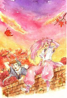 Arche and Chester - Tales of Phantasia Tales Of Phantasia, Tales Series, D Gray Man, Reborn Katekyo Hitman, Vampire Knight, Doujinshi, Sailor Moon, Geek Stuff, Fan Art
