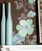 Traviata : Brown & Blue Wallpaper