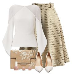 Untitled #8256 by ana-angela on Polyvore featuring Roland Mouret, Chicwish, Francesco Russo and AERIN