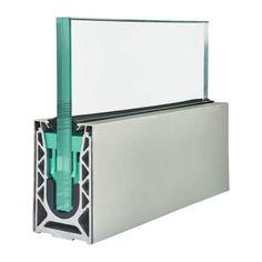 Barrier Sabco Aluminium Side Fix Balustrade Rail Kit - Glass - Aluminium Cover Aluminum Handrail, Glass Handrail, Frameless Glass Balustrade, Glass Stairs, Glass Partition, Glass Porch, Glass Balcony, Glass Door, Flood Barrier