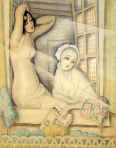 Gerda Wegener, Two Women in a Window, 1920