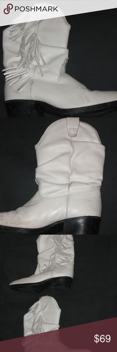 100% Leather Childrens 1M Cowboy boots 100% Leather Childrens 1M Cowboy boots  Slightly worn, beautiful condition. All sales final. Shoes Boots
