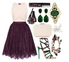 """""""jewel."""" by v1llainess ❤ liked on Polyvore featuring Alice + Olivia, Dolce&Gabbana, Wedding Belles New York, Dsquared2, Butter London, Judith Leiber, Laura Geller, Kenneth Jay Lane and 1928"""