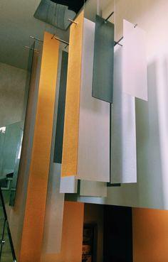 ecosense™ Goldleaf + ecosense™ Shadow + ecosense™ Natural Linen chandelier application ( 3 meters tall ) #dontlikeitloveit #ecosense #ecosensebysinktal #lightart #interiordesign