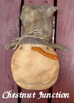 Hey, I found this really awesome Etsy listing at https://www.etsy.com/listing/213623190/mr-chills-snowman-epattern-primitive