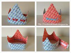 Een vriendin vroeg me om een kroon te maken voor in de kleuterklas. De papieren kroontjes gingen...