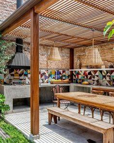 40 Outdoor Kitchen Pergola Ideas for Covered Backyard Designs Awesome outdoor kitchen pergola ideas Pergola With Roof, Pergola Patio, Modern Pergola, Covered Pergola, Small Pergola, Pergola Screens, Outdoor Decking, Wisteria Pergola, Patio Fence