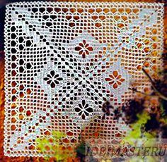 Салфетка квадратная вязаная крючком, красивая ажурная,фото