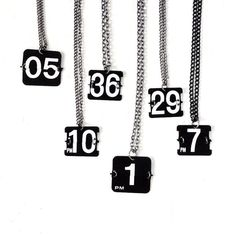 These necklaces are so cool.  you could do your anniversary or how many kids you have, etc... So many possibilities!