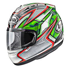 Arai Helmets - JPmotorcyclehelmet: Motorcycle Helmet, Parts & Accessories Motorcycle Helmet Design, Arai Helmets, Custom Helmets, Road Bikes, Motogp, Bicycle, Racing, Retail Box, Outdoor Recreation