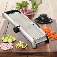 Time and finger saver. OXO Stainless-Steel Mandoline #WilliamsSonoma
