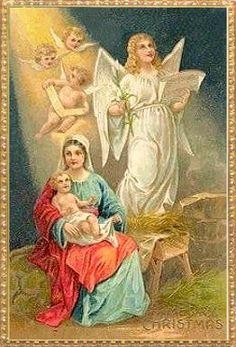 Vintage Nativity Card