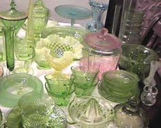 Depression Glass.....