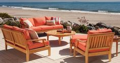 New For 2012 Plantation Teak Deep Seating With Custom Sunbrella cushions