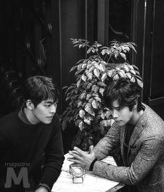 Kim Woo Bin | 김우빈 | D.O.B 16/7/1989 (Cancer) x Lee Byung Hun | 이병헌 | D.O.B 12/7/1970 (Cancer)