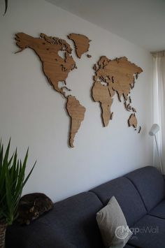 World map Oak – Mapawall.com
