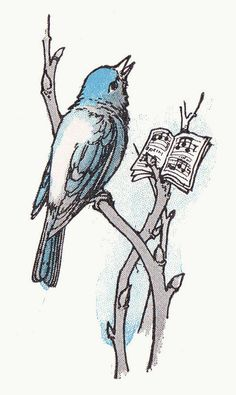 "Bluebird was singing, ""Dear Little Violet, come out, come out!"" by Margaret Ely Webb"