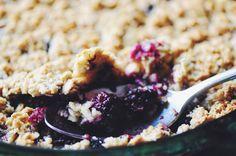 Blackberry & Coconut Oat Crust Crumble (Gluten Free, Vegan)