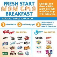 Today we are launching 3 actions for our Fresh Start Non-GMO Breakfast campaign. http://www.facebook.com/GmoInside