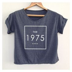 Crop the 1975 Shirt the1975 Shirt the 1975 Tshirt Women's Clothing Siz ❤ liked on Polyvore featuring tops, cropped tops, crop shirt, round top, shirt top and cut-out crop tops