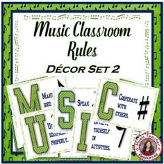 Decorate your music classroom and remind students of class rules in a positive and visual way with these FIVE beautifully presented posters.There is one poster for each letter in the word MUSIC and one rule per letter.