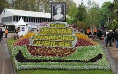 The Diamond Jubilee is celebrated in true Chelsea Flower Show style.  Picture: EAMONN MCCORMACK