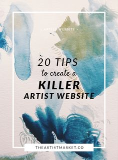 Do you have a website for your art, but know you could make it better with some help? Check out these tips to give you some super ideas. Artist Website | Sell Art | Sell Art Online