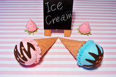 Felt Ice Cream Set E -includes 2 cones & 2 scoops of ice cream. Felt food, Felt Toy, Felt Ice cream, Toy Food, play food,Easter basket