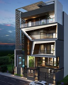 House Outer Design, Modern Small House Design, Modern Exterior House Designs, Modern House Facades, House Front Design, Exterior Design, House Architecture Styles, Architecture Building Design, Home Building Design