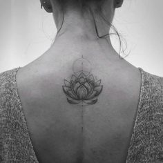 Lotus Flower Tattoo by Balazs Bercsenyi