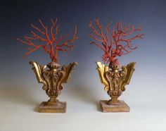 Rare Pair Of Coral Branches.