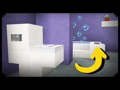 ✔ Minecraft: How to make a Working Bathroom - YouTube